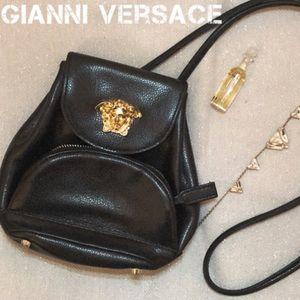 GIANNI VERSACE Leather Purse Crossbody Bag Vintage